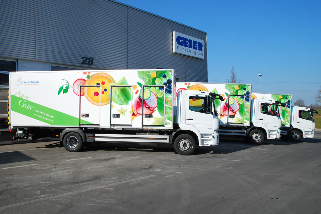 Drei Isolier-Kofferaufbauten für die Kellenberger Frisch Service frigemo AG