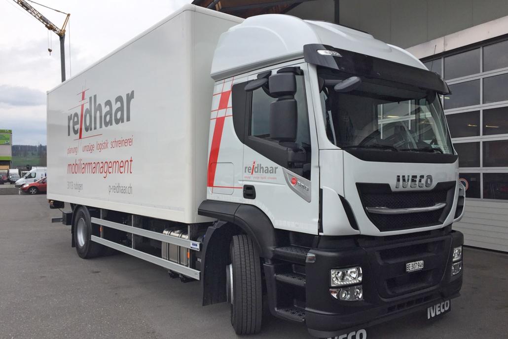 Kofferaufbau für Möbeltransport der P. Reidhaar AG